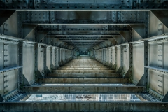 Innenarchitektur Eisenbahnbrücke