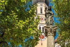Wolfratshausen St. Andreas mit Mariensäule - Andy Ilmberger