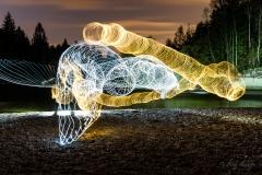 Lichtmalerei Isar - Andy Ilmberger