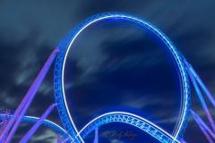 Achterbahn Looping bei Nacht - Andy Ilmberger