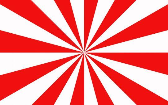 Ein fertiger Strahlenkranz als Hintergrund-Textur in den Farben Rot und Weiß.